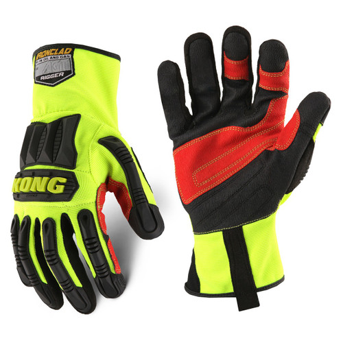 KONG General Utility High-Visibility Rigger Gloves - Single Pair