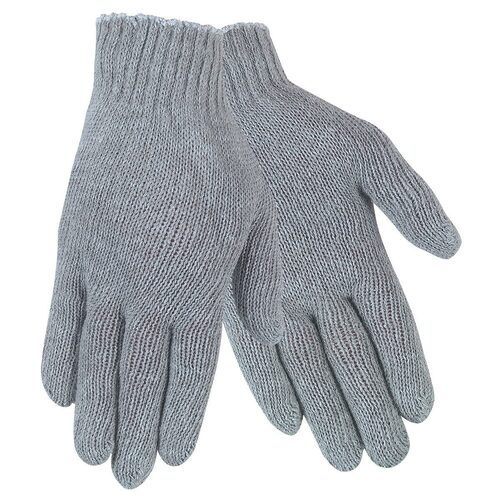 Memphis Gray Cotton Poly String Knit Gloves - Pack of 12 Pairs