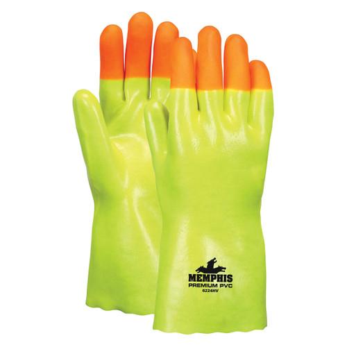 "MCR Safety High-Vis Premium 12"" PVC Gloves - 6224HV"