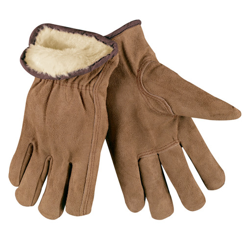 MCR Safety 3170 Split Leather Insulated Driver Gloves - Single Pair