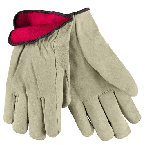 MCR Safety 3150 Fleece Lined Leather Driver Gloves - Single Pair