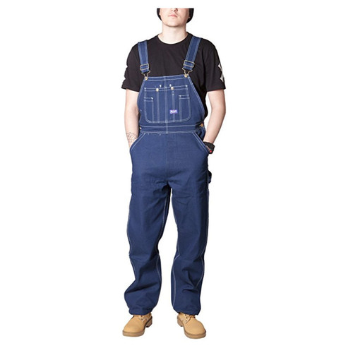 BIG SMITH Men's Rigid Denim Bib Overalls - Indigo Blue