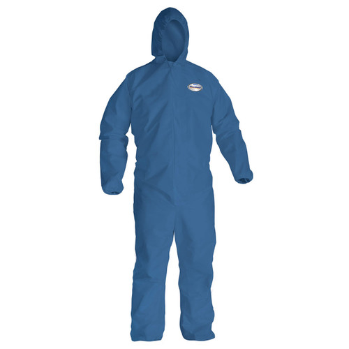 Case of 24 Kleenguard A20 Breathable Coveralls with Zipper and Hood