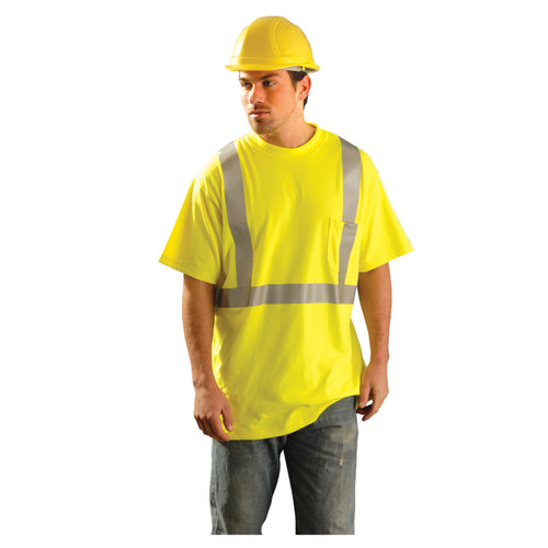 OccuNomix High-Vis Flame Resistant Short Sleeve T-Shirt - LUX-TP2/FR