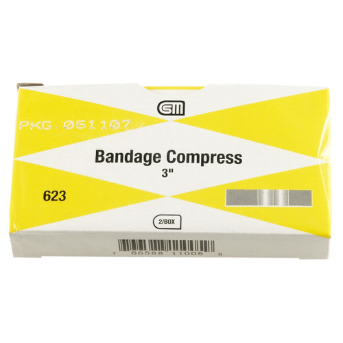 "Bandage Compress, 3"", 2 pack"