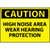 Caution High Noise Area Wear Hearing Protection 10x14 Vinyl Sign