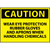 Caution Wear Eye Protection Rubber Gloves And Aprons When Handling Chemicals 10x14 .040 Aluminum Sign