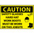 Caution Safety Glasses Hard Hat Work Boots Must Be Worn On This Jobsite, Graphic, 14x20 .040 Aluminum Sign