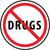 "Say No To Drugs, 2"", Pressure Sensitive Vinyl Hard Hat Emblem, Single Sticker"