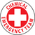 "Chemical Emergency Team, 2"", Pressure Sensitive Vinyl Hard Hat Emblem, 25 per Pack"
