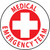 "Medical Emergency Team, 2"", Pressure Sensitive Vinyl Hard Hat Emblem, 25 per Pack"