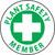 """Plant Safety Member, 2"""", Pressure Sensitive Vinyl Hard Hat Emblem, Single Sticker"""