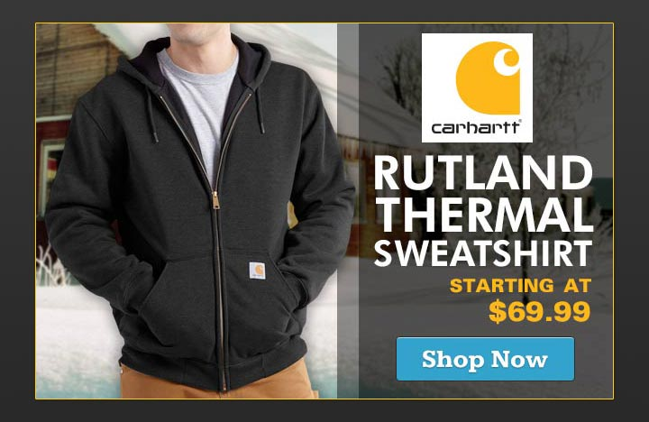 Carhartt Rutland Thermal Zip Front Sweatshirt