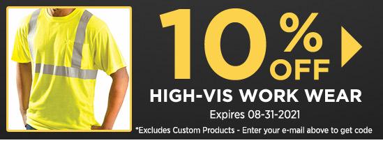 10% Off High-Vis Work Wear