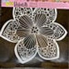 Collarette Dahlia flower stencil from The Crafters Workshop with Free Shipping. Made in USA