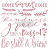 Inspired Words Clearly Aligned Decor Stamp from Redesign with Prima and Free Shipping