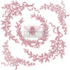 French Laurels Clearly Aligned Decor Stamp from Redesign with Prima