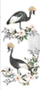 Rare Birds Small Rub On Furniture Transfer  with FREE Shipping