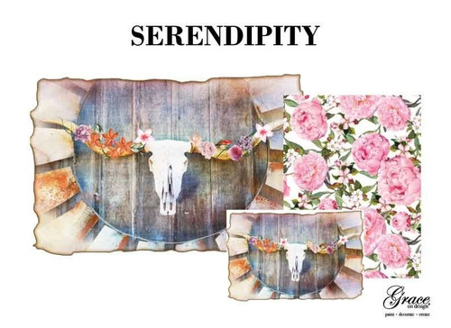 Serendipity Decoupage Pack from Grace on Design , 3 sheets , Free Shipping
