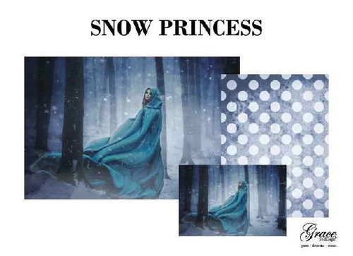 Snow Princess Decoupage Pack by Grace on Design, 3 sheets , Free Shipping