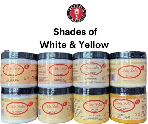 Shades of WHITE & YELLOW in Dixie Belle Chalk Paint