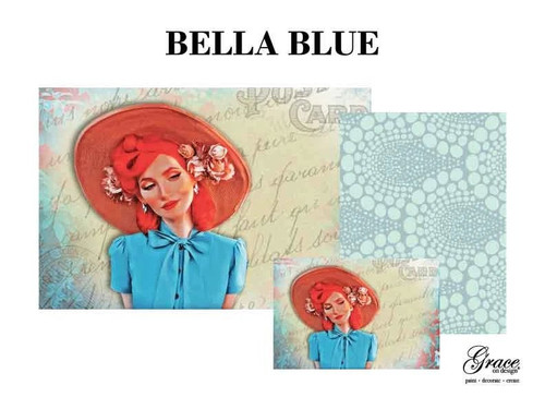 Bella Blue Decoupage Pack by Grace on Design , 3 sheets , Free Shipping