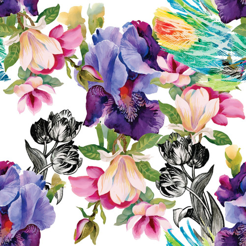 Decoupage Rice Paper Colorful Floral from Dixie Belle, 3 sheets per pack, Free Shipping