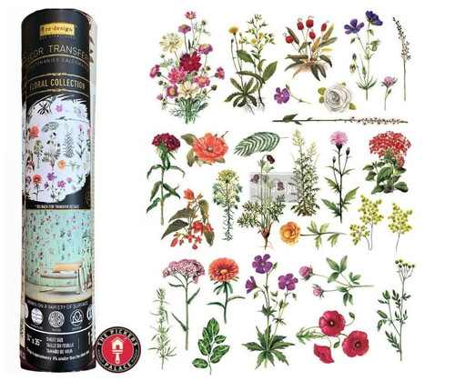 Floral Collection Rub on Transfer from Redesign with Prima, Free Shipping