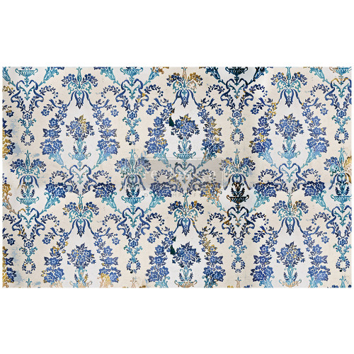 Cobalt Flourish Prima Decoupage Mulberry Tissue Paper from Redesign With Prima Free Shipping