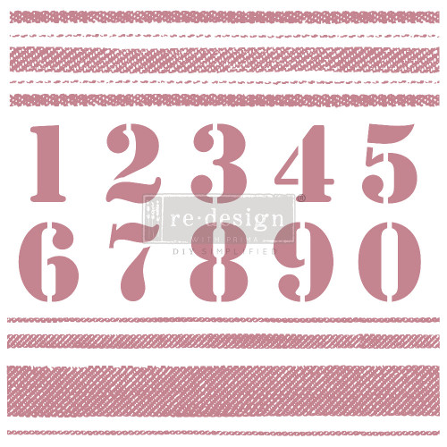 STRIPES Clearly Aligned Decor Stamp, Create a French Linen Stripe