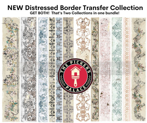 2 Transfer BUNDLE,  Distressed Border Collection from Redesign with Prima with Free Shipping