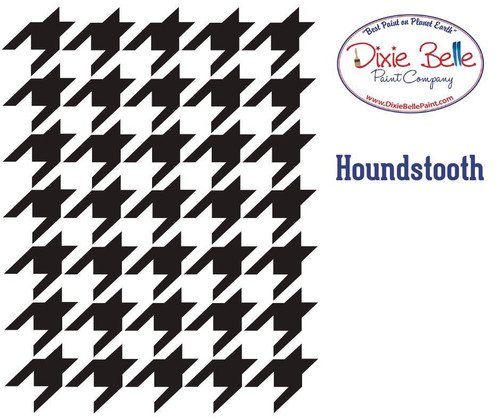 Houndstooth Dixie Belle Stencils with FREE SHPPING