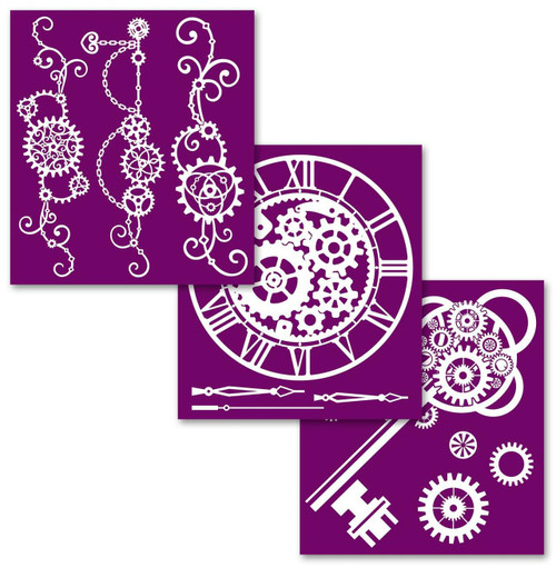 Steampunk  Silk Screened Stencil Collection from Dixie Belle with  free shipping