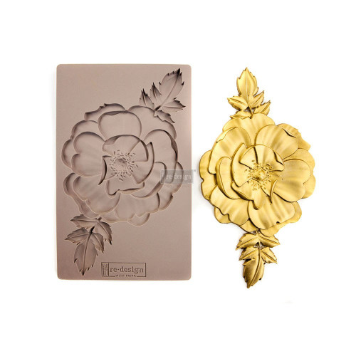 In Bloom Single Flower Rose Resin Mold from Redesign with Prima Free Shipping
