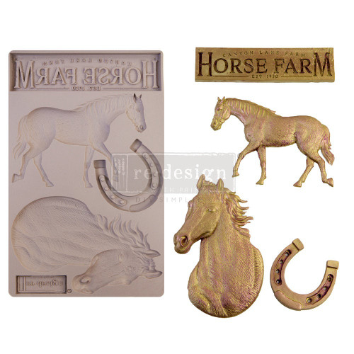 Majesty Beauty Horse Resin Mold from Redesign with Prima and Free Shipping