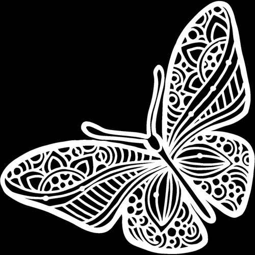 Joyous Butterfly  Stencil by The Crafters Workshop, Free Shipping, Made in USA