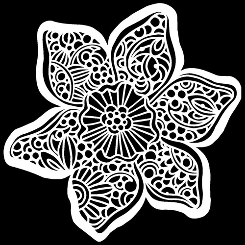 Trumpet Daffodil Stencil  from The Crafters Workshop with  Free Shipping, Made in USA