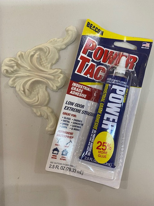 PowerTac Adhesive for molds, trims, and repairs,  Use with EFEX, Free shipping