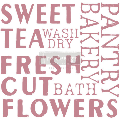 Sweet Tea Large Sign Stamp from Prima Redesign Stamp with  Free Shipping