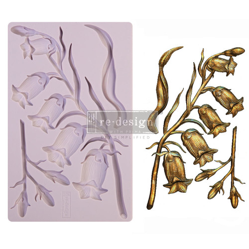 Sweet Bellflower Resin Mold From Redesign with Prima and  Free Shipping