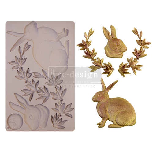 Meadow Hare Bunny Resin  Mold from Redesign with Prima with Free Shipping