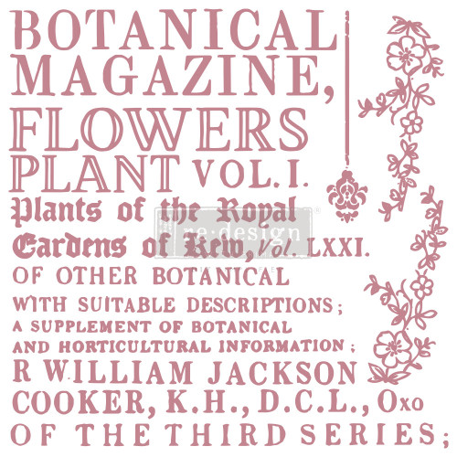 Large Botanical Encyclopedia  Clear Stamp from Redesign Prima with Free Shipping