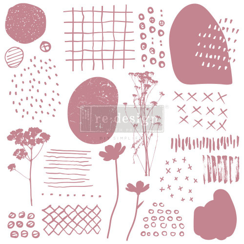 Abstract Scribbles Clearly Aligned Decor Stamp from Redesign with Prima and Free Shipping