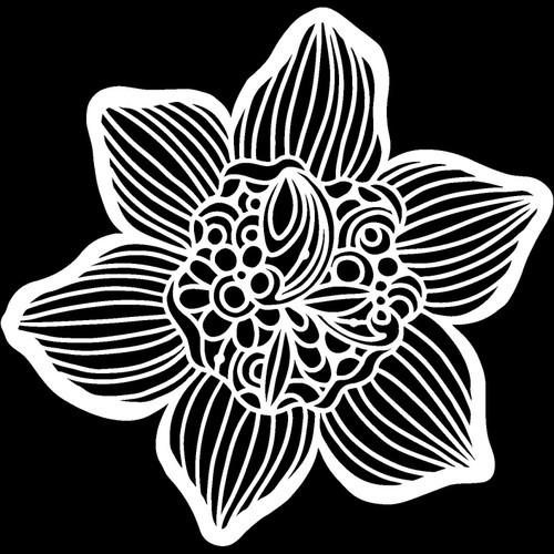 Cupped Daffodil Stencil  form Sign making from The Crafters Workshop, Free Shipping, Made in USA