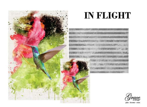 In Flight Grace on Design Decoupage Pack, 3 sheets , Free Shipping