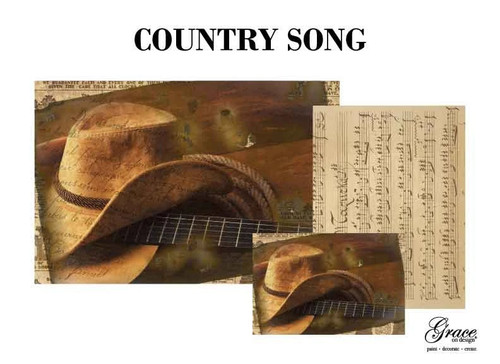 Country Song Decoupage Pack by Grace on Design , 3 sheets , Free Shipping