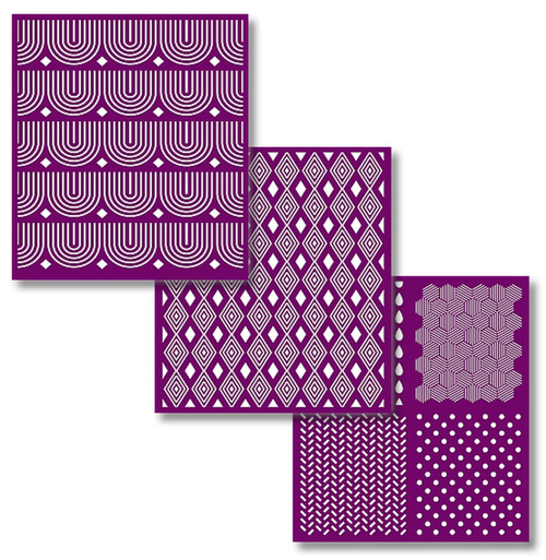 Pattern Silk Screened Stencils from Dixie Belle with  3 sheets of designs and free shipping