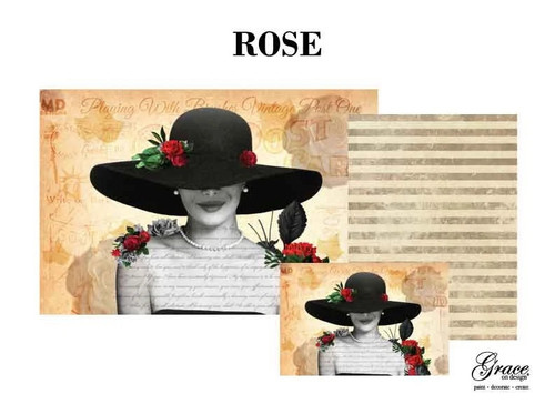 Rose Decoupage Pack, 3 sheets , By Grace On Design  with Free Shipping