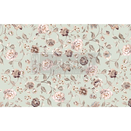 Neutral Florals Paper Redesign Decoupage Mulberry Tissue Paper with Free Shipping