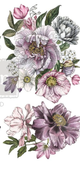 Dreamy Floral  Small Rub On Furniture Transfer  with FREE Shipping